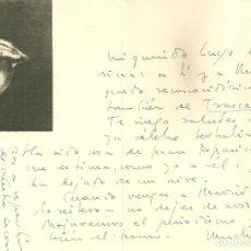 Documentos antiguos: C1.- TOMAS BORRAS CARTA MANUSFRITA ENVIADA AL POETA LUYS SANTA MARINA - FALANGE ESPAÑOLA. Lote 194705611