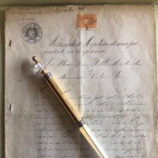 Documentos antiguos: CHILE- HIPOTECA PROPIEDAD EN ESPAÑA- PABLO MADIROLAZ- RAMON VILA- 1.891. Lote 194788658