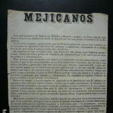 Documentos antigos: MEXICO. VERACRUZ. 1862. PRIM, CONDE REUS. FIRMADO POR GABRIEL DE TORRES?. Lote 194871185