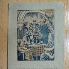 Documentos antiguos: CASINO PRADO SUBURENSE. SITGES 1927. CENA DE SOCIEDAD.. Lote 194890647