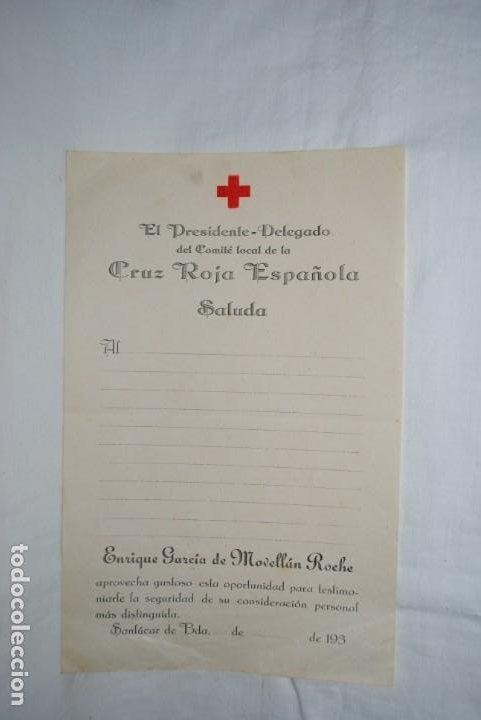 PRESIDENTE - DELEGADO DE LA CRUZ ROJA. 193...... (Coleccionismo - Documentos - Otros documentos)