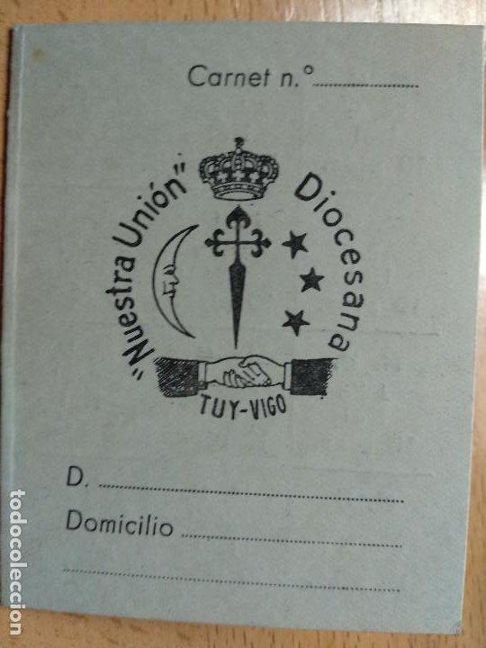 CARNET JOVENES DE ACCION CATOLICA UNION DIOCESANA DE TUT VIGO. 1961-62. (Coleccionismo - Documentos - Otros documentos)
