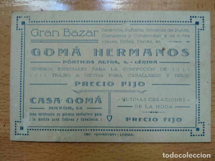 GRAN BAZAR GOMAHERMANOS. SASTRERIA, PAÑERIA.. (Coleccionismo - Documentos - Otros documentos)