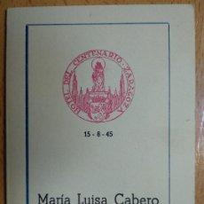 Documentos antiguos: HOTEL DEL CENTENARIO. ZARAGOZA, AÑO 1945. MINUTA.. Lote 194899265