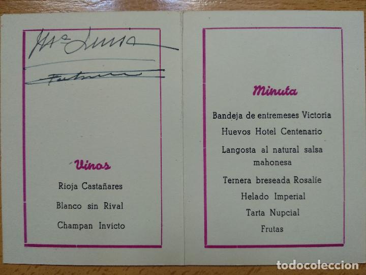 Documentos antiguos: HOTEL DEL CENTENARIO. ZARAGOZA, AÑO 1945. MINUTA. - Foto 3 - 194899265