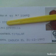 Documentos antiguos: CARNET DE SOCIO DEL GRUPO DE EMPRESA FASA - RENAULT . SEVILLA, 1993. Lote 194908433
