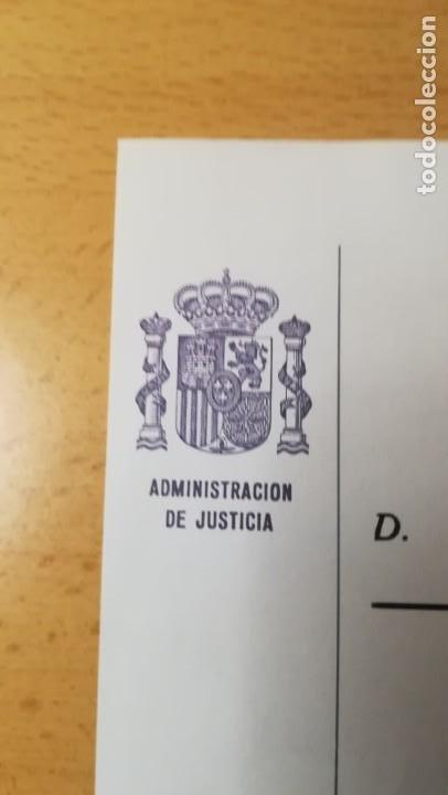 Documentos antiguos: DOCUMENTO DECLARACION ADMINISTRACION DE JUSTICIA.SEVILLA,EPOCA JUAN CARLOS - Foto 2 - 194913485