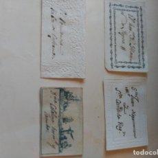 Documentos antiguos: TARJETAS. Lote 194950593