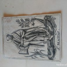 Documentos antiguos: SAN MATÍAS. Lote 194950922