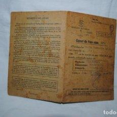 Documentos antiguos: CARNET DE PARO SELLADO . Lote 195005982