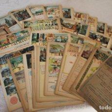 Documentos antiguos: 51 LAMINAS PROVINCIAS ESPAÑOLAS PUBLICIDAD ANUARIO TELEFÓNICO ANVERSO MAPA PROVINCIA MATEU CROMO. Lote 195014160