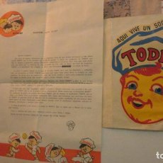 Documentos antiguos: ANTIGUA CARTA Y CALCOMANIA.CLUB TOBBY MADRID.. Lote 195028478