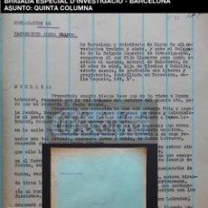 Documentos antiguos: QUINTA COLUMNA - DETENIDOS - BRIGADA ESPECIAL D'INVESTIGACIO - CAT - 1937 - GUERRA CIVIL - REF210. Lote 195040553