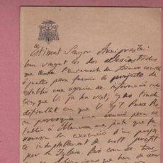 Documentos antiguos: DOCUMENTO O CARTA DIPTICA DEL OBISPADO DE VIC - 1910. Lote 195114367