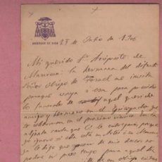 Documentos antiguos: DOCUMENTO O CARTA DIPTICA DEL OBISPADO DE VIC - 1906. Lote 195116703