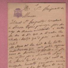 Documentos antiguos: DOCUMENTO O CARTA DIPTICA DEL OBISPADO DE VIC - 1906 DIGIDA A MANRESA. Lote 195117002