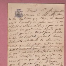 Documentos antiguos: DOCUMENTO O CARTA DIPTICA DEL OBISPADO DE VIC - 1914. Lote 195117161