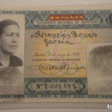 Documentos antiguos: ANTIGUO DNI.DOCUMENTO NACIONAL IDENTIDAD.COLOR VERDE.2ª CLASE.MERIDA 1953. Lote 195132037