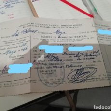 Documentos antiguos: TARJETA DE PROMOCIÓN CULTURAL. MINISTERIO DE EDUCACIÓN NACIONAL-EDUCACIÓN DE ADULTOS 1942. Lote 195151772