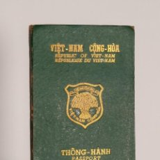 Documentos antiguos: PASAPORTE DE VIETNAM DEL SUR 1973, PASSPORT OF SOUTH VIETNAM, GUERRA DEL VIETNAM, VIETNAM WAR. Lote 195155695