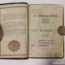 Documentos antiguos: PASAPORTE DE ZIMBABWE 1989, PASSPORT OF ZIMBABWE PASSEPORT,REISEPASS. Lote 195156935