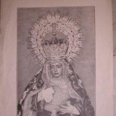 Documentos antiguos: NUESTRA SEÑORA DE LA AMARGURA SEVILLA 1923.21X13. Lote 195162597