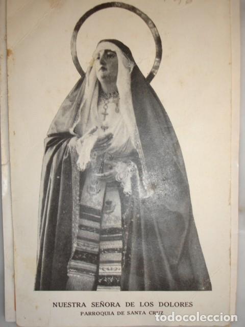 NUESTRA SEÑORA DE LOS DOLORES PARROQUIA SANTA CRUZ SEVILLA 1926. 26X10 (Coleccionismo - Documentos - Otros documentos)