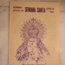 Documentos antiguos: SEMANA SANTA SEVILLA 1935. 4 PG . Lote 195163068