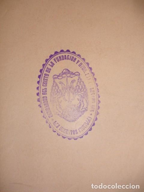 Documentos antiguos: NUESTRA SEÑORA DELOS ANGELES VULGO NEGRITOS CRISTO DE LA FUNDACION SEVILLA - Foto 2 - 195163240