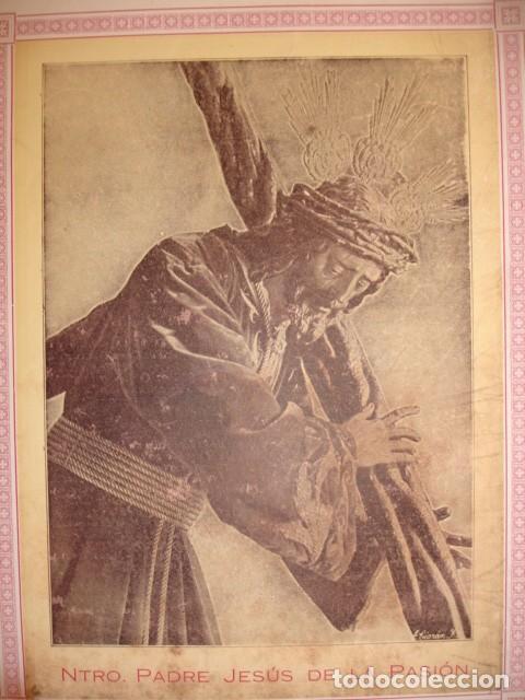 NUESTRO PADRE JESUS DE LA PASION Y NUESTRA MADRE DE LA MERCED SEVILLA 1923 CULTOS 22X17 (Coleccionismo - Documentos - Otros documentos)