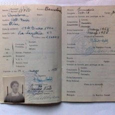 Documentos antiguos: CARNET-LIBRETA ACTIVIDADES EDUCACIÓN FISICA,F.E.T. Y DE LAS J.O.N.S.,EXPEDIDO 1958,SECCIÓN FEMENINA. Lote 195166781