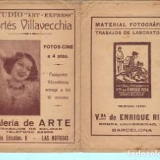 Documentos antiguos: SOBRE DE LABORATOTIO FOTOGRAFICO GALERIA DE ARTE BARCELONA. Lote 195191971