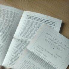 Documentos antiguos: PROPAGANDA MONÁRQUICA JUANISTA AÑOS 40. ALFONSO XIII Y JUAN III DE BORBÓN. JUANISMO. 6 PÁGINAS . Lote 195201752