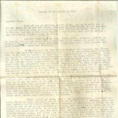 Documentos antiguos: 579.-FALANGE ESPAÑOLA-VIEJA GUARDIA-TETUAN -CARTA ENVIADA AL PERIODISTA FALANGISTA LUYS SANTA MARINA. Lote 195207407