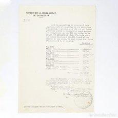 Documentos antiguos: DOCUMENTO DE FRANCESC MACIÀ - FIRMADO - 1931 - AL ALCALDE DE TONA - PRESIDENT GENERALITAT - RARO!. Lote 195245533