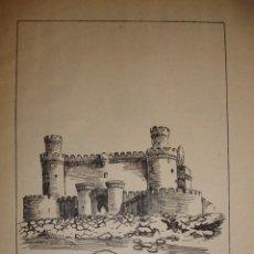 Documentos antiguos: CASTILLO DE MANZANARES EL REAL CON UNA PEQUEÑA HISTORIA DEL CASTILLO. Lote 195253226