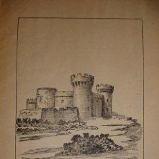 Documentos antiguos: CASTILLO DE MONTIEL CON UNA PEQUEÑA HISTORIA DEL CASTILLO. Lote 195253303