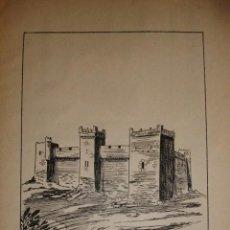 Documentos antiguos: CASTILLO DE MARCILLA NAVARRA CON UNA PEQUEÑA HISTORIA DEL CASTILLO. Lote 195253366