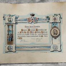 Documentos antiguos: DIPLOMA NUEVA UNIÓN PALENTINA 1921. Lote 195283632