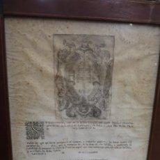 Documentos antiguos: EDICTO PARA LA VACANTE DE UNA PLAZA DE LA IGLESIA SANTO SEPULCRO DE CALATAYUD,ENMARCADO. SIGLO XVIII. Lote 195315536