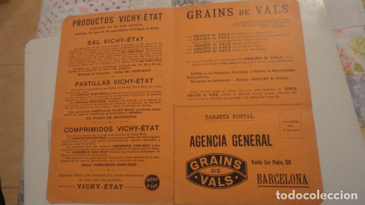 Documentos antiguos: ANTIGUO VALE GRATUITO. GRAINS DE VALS.ESTREÑIMIENTO. VICHY-ETAT PRINCIPIOS DEL XX. - Foto 2 - 195330866