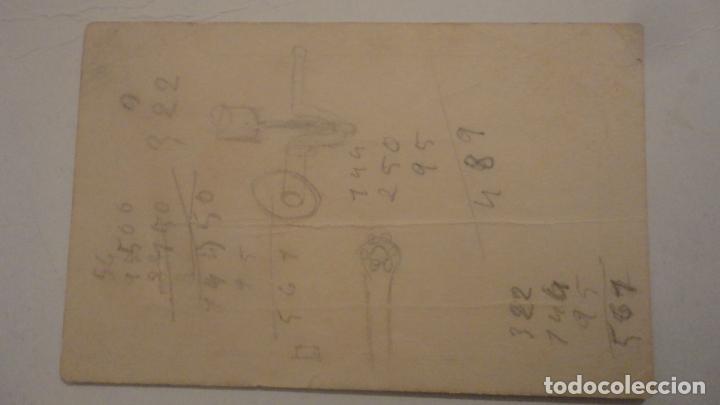 Documentos antiguos: ANTIGUA TARJETA COMERCIAL.PENSION DELGADO.TRAJANO Nº 10. SEVILLA - Foto 2 - 195333392