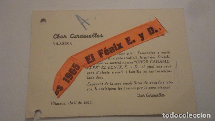 ANTIGUA TARJETA CHOR CARAMELLES.VILASECA TARRAGONA 1965 (Coleccionismo - Documentos - Otros documentos)