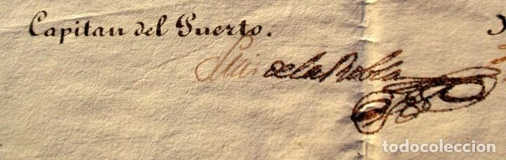 Documentos antiguos: DOCUMENTO FIRMADO POR EL CAPITAN DEL PUERTO DE MONTEVIDEO EN 1839 LUIS DE LA ROBLA MILITAR REALISTA - Foto 3 - 195345275