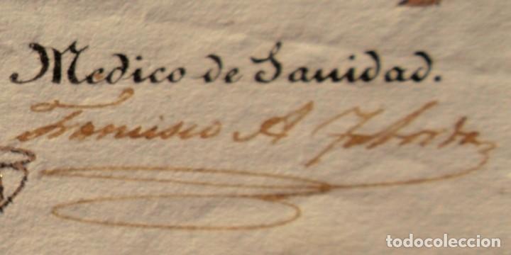 Documentos antiguos: DOCUMENTO FIRMADO POR EL CAPITAN DEL PUERTO DE MONTEVIDEO EN 1839 LUIS DE LA ROBLA MILITAR REALISTA - Foto 4 - 195345275