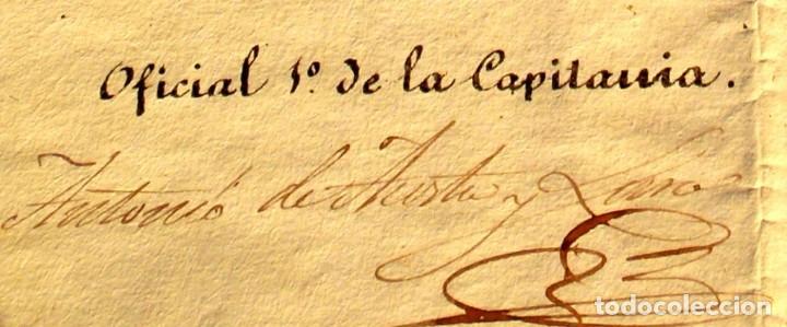 Documentos antiguos: DOCUMENTO FIRMADO POR EL CAPITAN DEL PUERTO DE MONTEVIDEO EN 1839 LUIS DE LA ROBLA MILITAR REALISTA - Foto 5 - 195345275