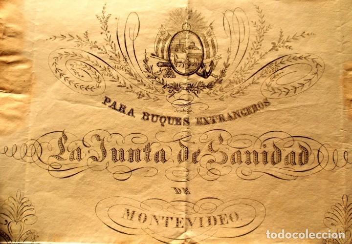 Documentos antiguos: DOCUMENTO FIRMADO POR EL CAPITAN DEL PUERTO DE MONTEVIDEO EN 1839 LUIS DE LA ROBLA MILITAR REALISTA - Foto 6 - 195345275