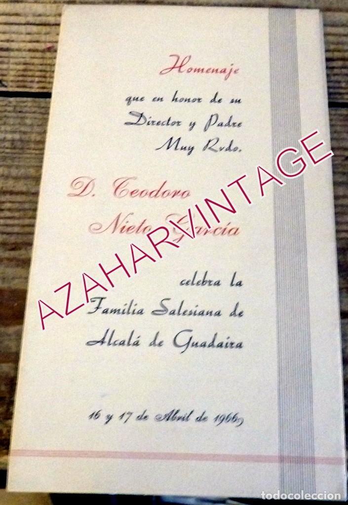 ALCALA DE GUADAIRA, 1966, PROGRAMA ACTOS HOMENAJE SALESIANO TEODORO NIETO GARCIA (Coleccionismo - Documentos - Otros documentos)