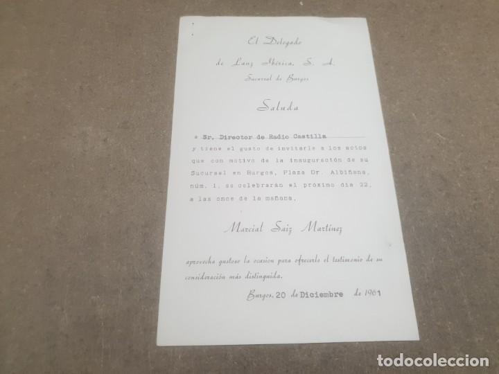 SALUDA DE LANZ IBERICA, S.L. BURGOS AL DIRECTOR DE RADIO CASTILLA.....1961... (Coleccionismo - Documentos - Otros documentos)