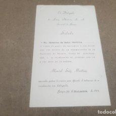 Documentos antiguos: SALUDA DE LANZ IBERICA, S.L. BURGOS AL DIRECTOR DE RADIO CASTILLA.....1961.... Lote 195379827